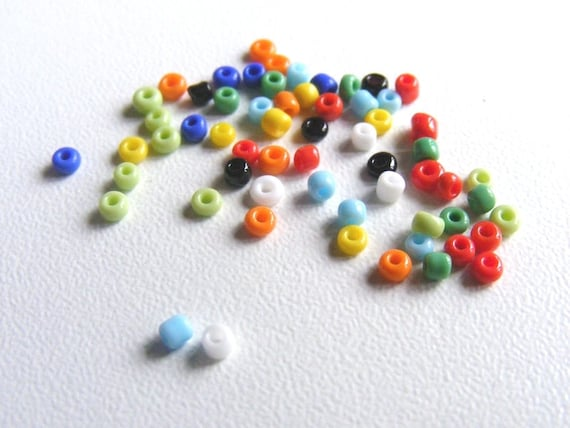 Mini seed beads 2 mm Mix Color x10g