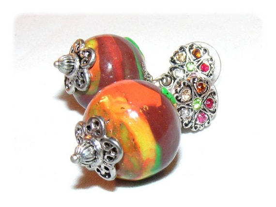 Earrings # kind of Designer [BrownApple] multicolor