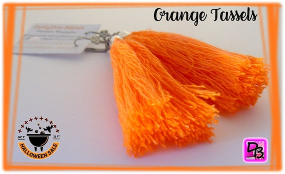 Boucles d'oreilles [Orange Tassels]