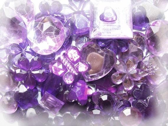 10 Cabochons Acryliques [Violet]