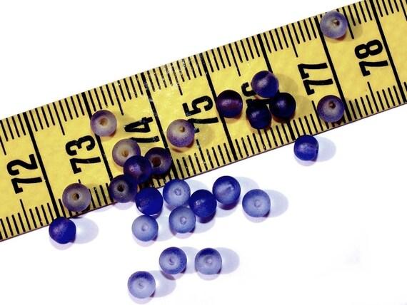 Round 4mm Cobalt Blue matte x 50