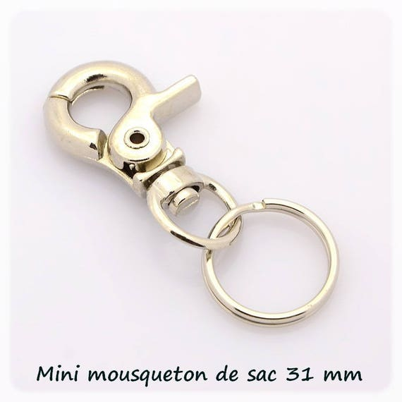 Snap purse with 16 mm [platinum silver] ring 1 x 31 mm