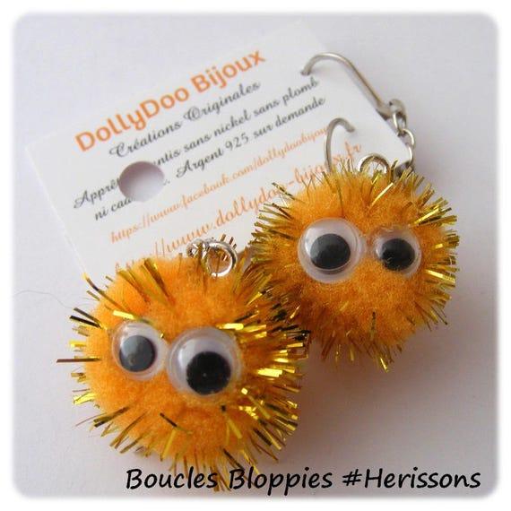 Earrings # # dangle earrings unique # earrings children earrings # tassels # bloppies eyes mobile # dollydoo # child gift