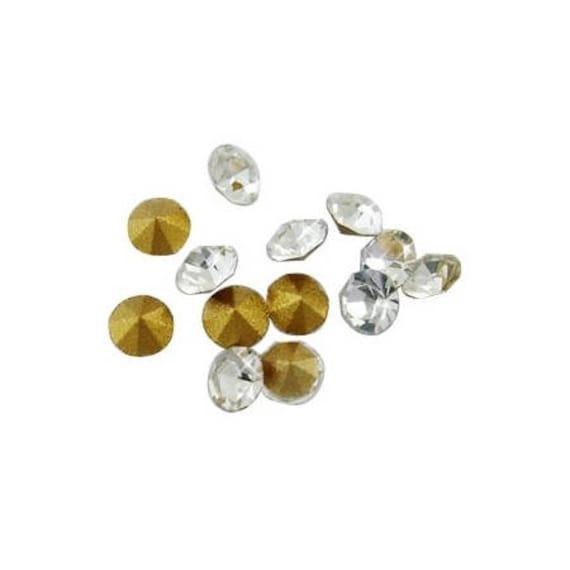Swarovski rhinestones, rhinestone diamond, clear Rhinestones, 2 mm rhinestones rhinestone bottom tapered, rhinestone paste rhinestone crimp findings Dollydoo