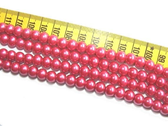 Round Pearly 6 mm Fuchsia x 25