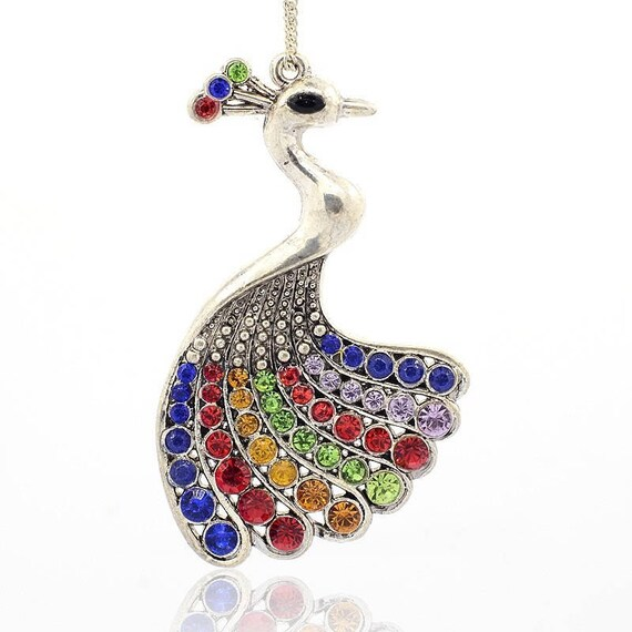 Stunning Peacock 76 mm x 1 obsolete money pendant