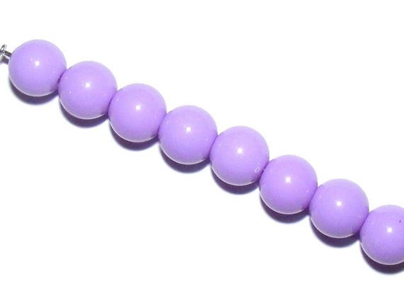 Colorful Acrylic Lilac 10 x 8mm round