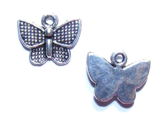 Charms butterflies silver 12mm x 10