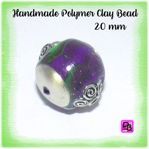 Perle unique ronde [Kashmiri] 20 mm