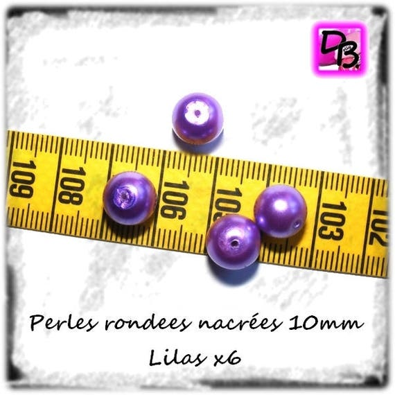 6 Perles Rondes [Lilas]