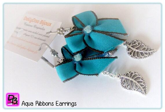 Boucles d'oreilles [Aqua Ribbons]