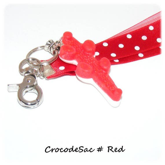 Bag charm fimo candy Keychain candy, uniquely DollyDoo, accessory bag, handmade, gift MOM, haribo crocodile