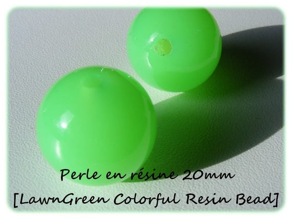 Pearl resin bright 20mm x 1 [LawnGreen Colorful]