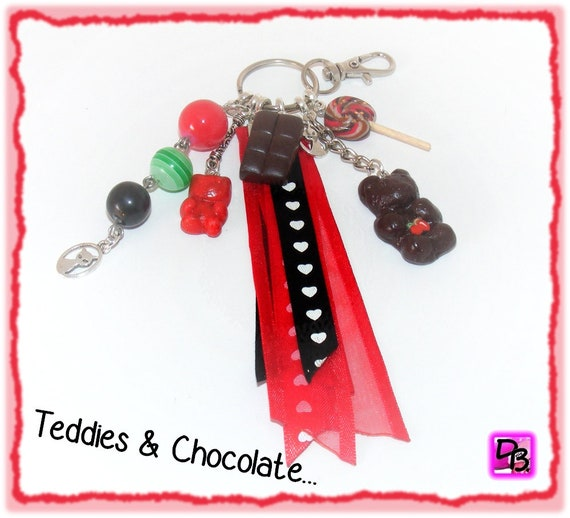 Porte-clés Teddies & Chocolate