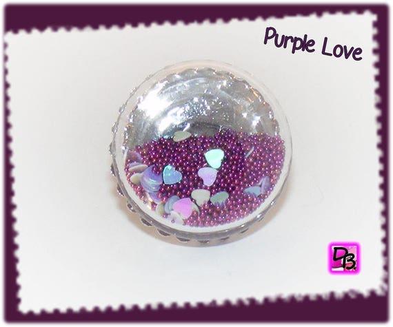 Bague globe [Purple love]