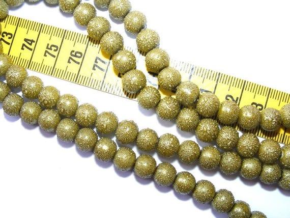 Speckled Dark Olivine 10 x 8mm Pearl round