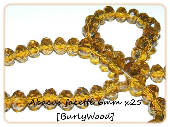 Abacus faceted 6x4mm [BurlyWood] x 25