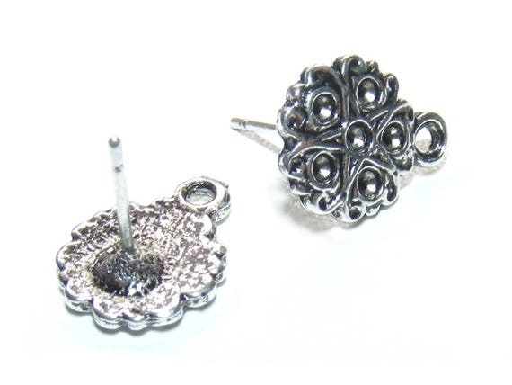 Rhinestone 12 mm x 2 obsolete money flower studs