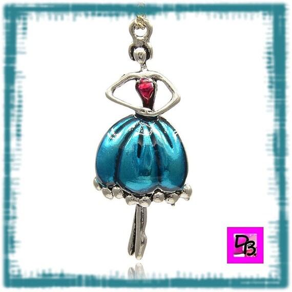 Pendentif danseuse de ballet [Pink and blue]