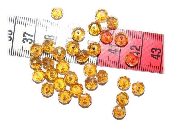 25 Perles Abacus Facettés 6x4mm[ Topaz]