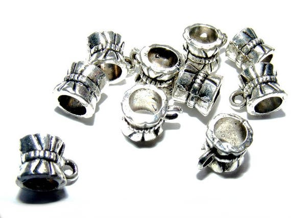 Set of bails [coffee cup] 10mm silver x 10