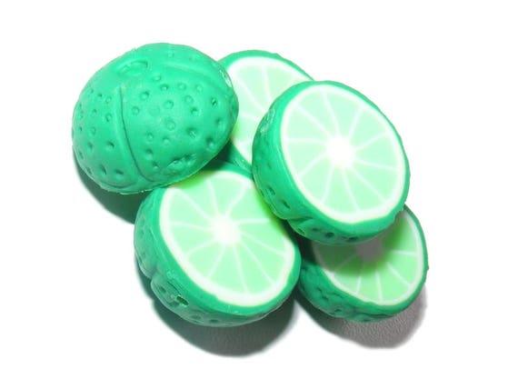 2 Perles demi-fruit [citron vert]