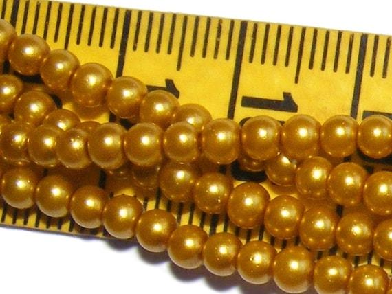 Rondes Nacrées 6mm Dark Gold x25