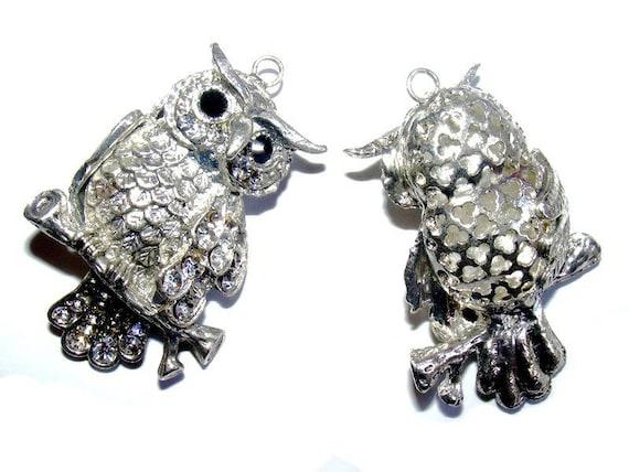 Grand Duke 64 mm antique silver x 1 OWL pendant