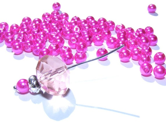 Round Pearl Pink 4mm x 50