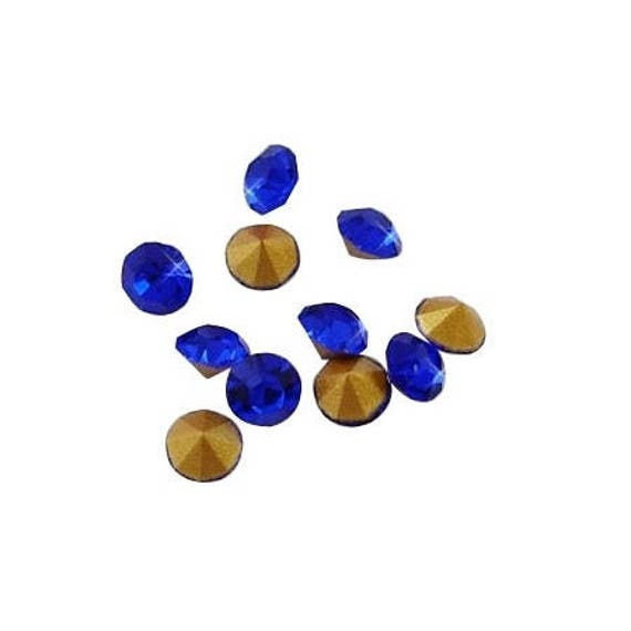10 Strass Diamant 2mm Cobalt
