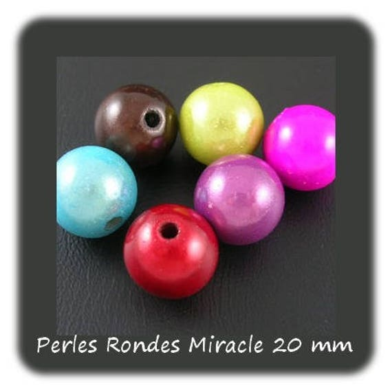 Round beads 20 mm x 1 [ChunkyMagic]