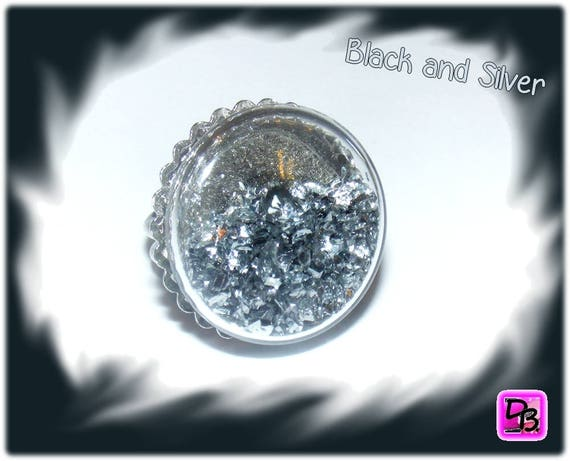 Bague globe [Black and Silver]