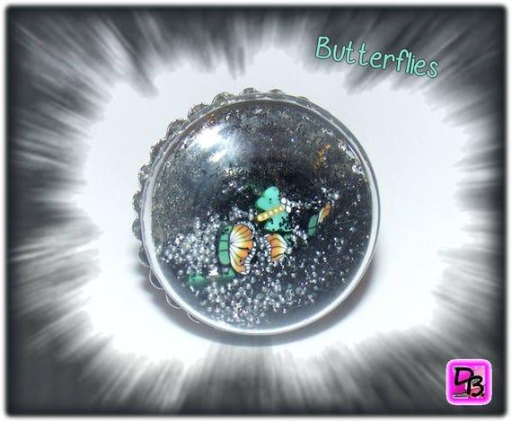 Bague globe [Butterflies]
