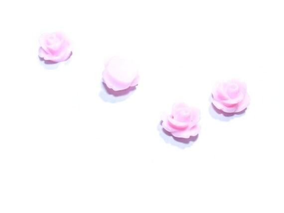 1 Cabochon Fleur 10mm [Rosaline]