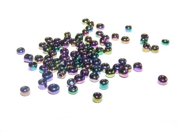 Mini Rocailles 2mm Purple Iris  x10g