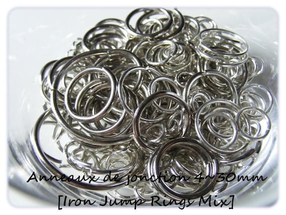 Jump rings 4 ~ 30mm [Iron Jump Rings Mix] x20g