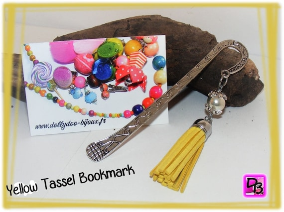 Marque-pages [Yellow tassel bookmark]