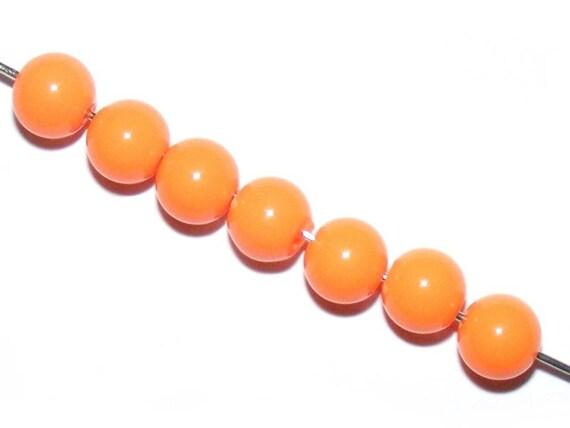 Colorful Acrylic Orange 10 x 8mm round