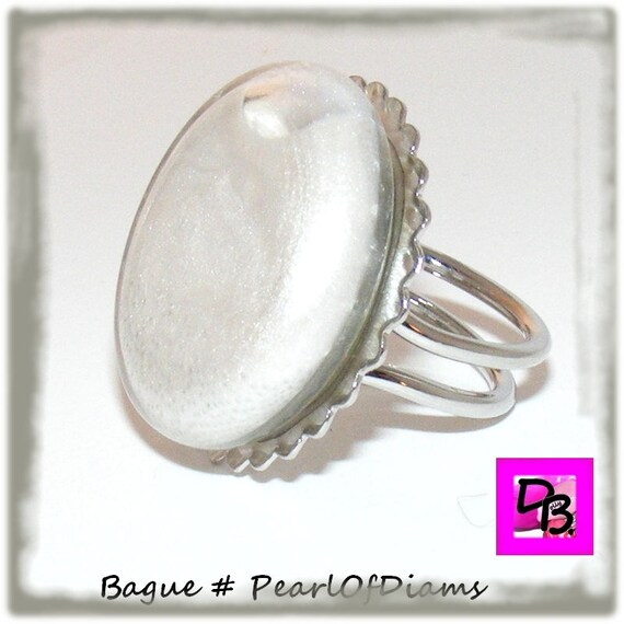 Bague globe [Pearl Of Diams]