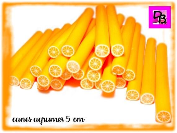 Cane polymère à trancher [agrume orange] 50 mm