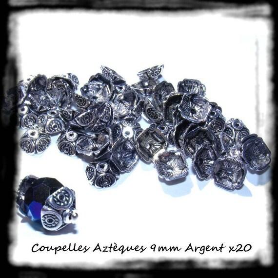 20 Coupelles Calottes Aztèques 9 mm