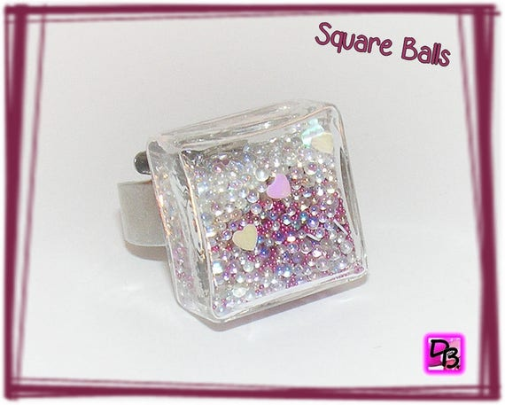 Bague globe [Square Balls]