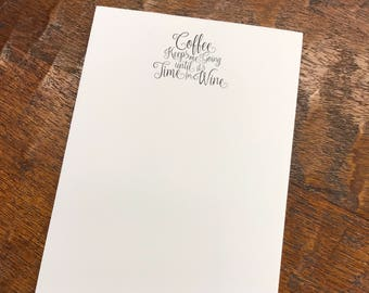 Wine and Coffee Notepad