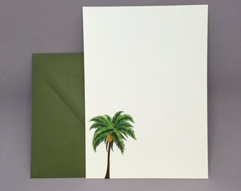 Palm Trees Invitations (Set of 10)