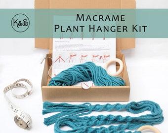 Macrame Plant Hanger Kit - Various Colours