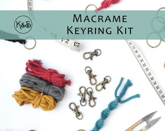 Macrame Keyring Kit - Various Colours Available