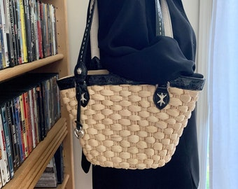 Gold Coast Quilted Braided Trim Bag in Black