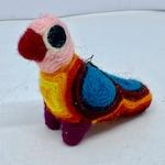 Huichol Yarn Art Bird Ornament Mexican Folk Art Colorful Piñata Type Bird