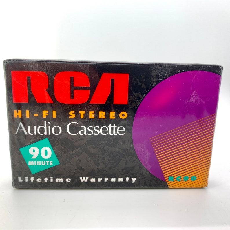 Vintage Blank RCA Audio Cassette 90 Minute Mix Tape Hi Fi image 0