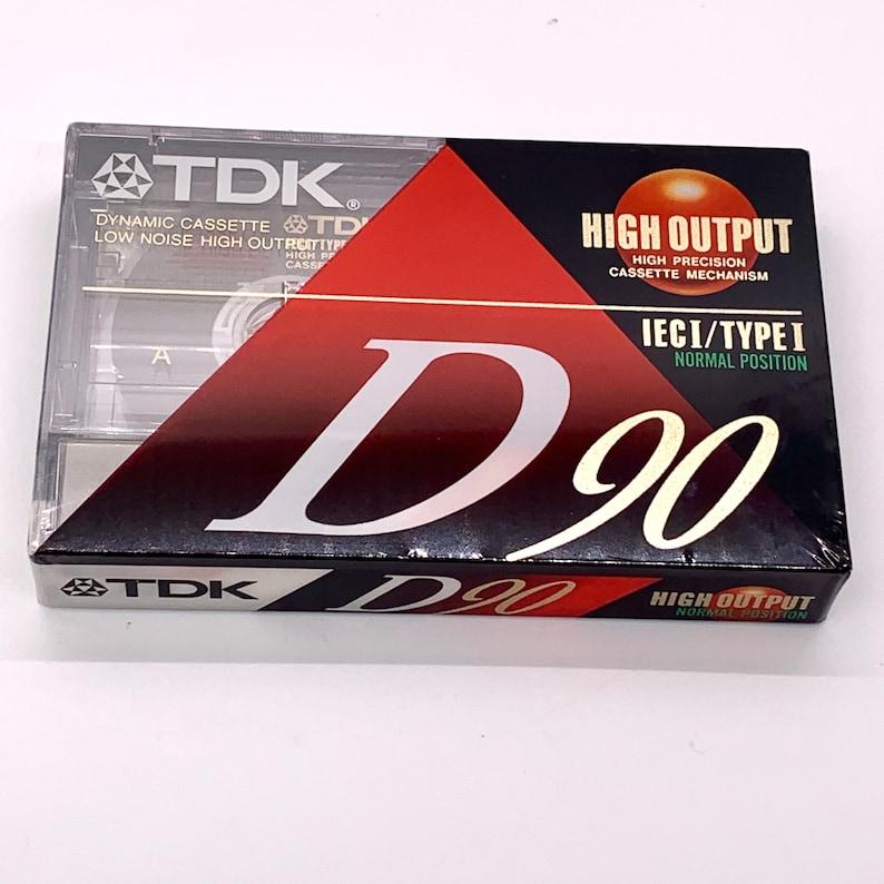 Vintage Blank TDK  Audio Cassette 90 Minute Mix Tape IECI Type image 0